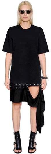 Damir Doma Cotton Denim Dress W/ Removable Panel