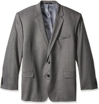 J.M. Haggar Men's Big & Tall Sharkskin Premium Classic-Fit Stretch Suit Separate Coat