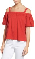 Velvet by Graham & Spencer Women's Slub Knit Off The Shoulder Top