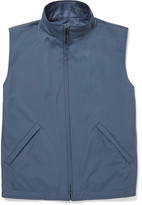 Loro Piana Reversible Shell And Woven Silk And Cashmere-blend Gilet