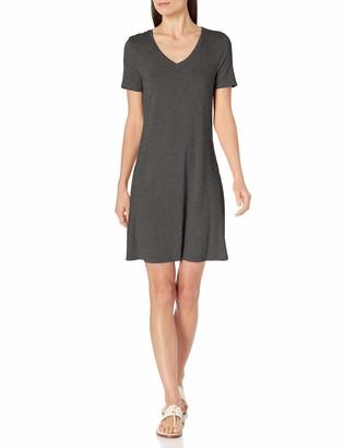 Amazon Essentials Short-sleeve V-neck Swing Dress