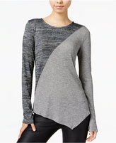 Bar III Asymmetrical Colorblocked Top, Only at Macy's
