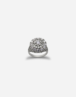 Dolce & Gabbana Sicily Ring In White Gold With Diamonds