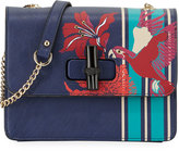 Neiman Marcus Bird of Paradise Flap Box Bag