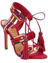 Schutz Eurica Embroidered Leather Sandals