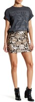 Romeo & Juliet Couture Flower Sequined Mini Skirt