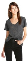 Mossimo V-Neck Linen/Poly Tee with Pocket