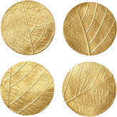 OKA Skeleton Leaf Coasters, Set of 4