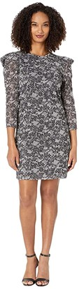 MICHAEL Michael Kors Puff Sleeve Sparkle Dress
