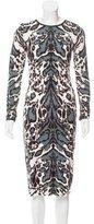 Sam&lavi Sam & Lavi Leopard Printed Midi Dress