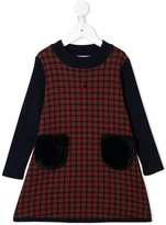 Familiar panelled checked dress