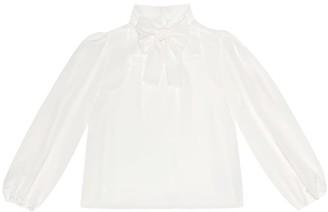 Dolce & Gabbana Kids Silk crepe de chine blouse