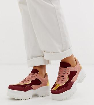 Asos Design DESIGN Wide Fit Dart chunky sneakers in multi