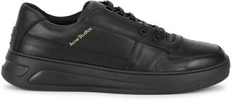 Acne Studios Perey black leather sneakers