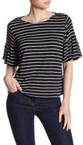 Cable & Gauge Striped Puff Sleeve Shirt