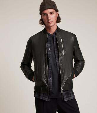 AllSaints Boyton Leather Bomber Jacket