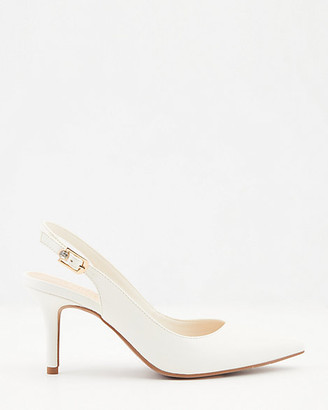 Le Château Faux Leather Pointy Toe Slingback Pump