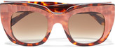 Thierry Lasry Intimacy 105 cat-eye striped and tortoiseshell acetate sunglasses