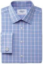 Charles Tyrwhitt Slim fit Prince of Wales blue shirt