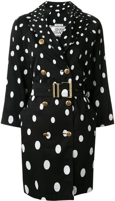 Versace Pre Owned Polka Dot Trench Coat