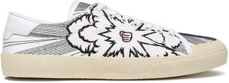 Saint Laurent Embroidered Canvas Sneakers