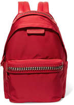 Stella McCartney The Falabella Go Faux Leather-trimmed Shell Backpack - Red