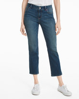 White House Black Market Mid Rise Cropped Flare Jeans