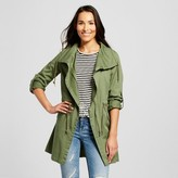 Collection B Women's Twill Anorak Jacket Olive