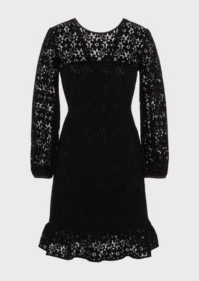 Emporio Armani Velvet-Lace Dress