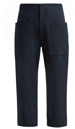 Raey Denim Patch-pocket Trousers - Indigo
