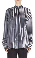 Haider Ackermann Striped Button-Front Blouse