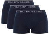 Polo Ralph Lauren Pack Of Three Logo-jacquard Cotton Boxer Briefs - Mens - Navy
