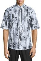 McQ by Alexander McQueen Woodgrain Short-Sleeve Sport Shirt