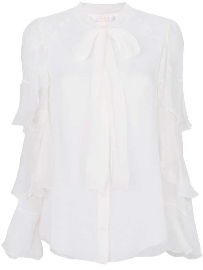 Chloé frill sleeve blouse