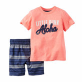 Carter's 2-pc. Coral Hunk Tee and Shorts Set - Toddler Boys 2t-5t