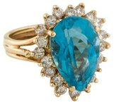 Ring 14K Topaz & Diamond