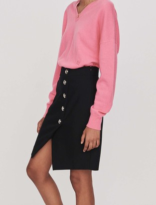 Maje Pencil skirt with buttons