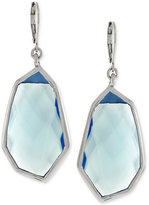 Vince Camuto Silver-Tone Blue Stone Drop Earrings