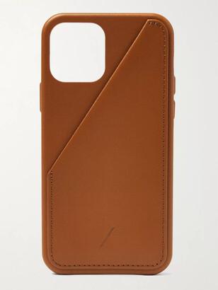 Native Union Clic Card Leather Iphone 12 Case