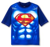 Superman Boys' Muscle Rashguard - Royal