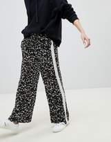 New Look Floral Stripe Wide Leg PANTS
