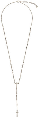 DSQUARED2 Silver Beaded Cross Necklace