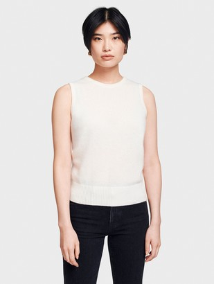 White + Warren Sample Sale Essential Cashmere Sleeveless Crewneck