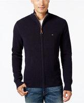 Tommy Hilfiger Men's Big & Tall Fabian Full-Zip Sweater