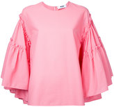 MSGM flared sleeve blouse - women - Cotton/Polyester - 46