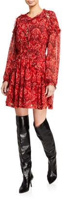 IRO Darling Ruffle Cutout Dress