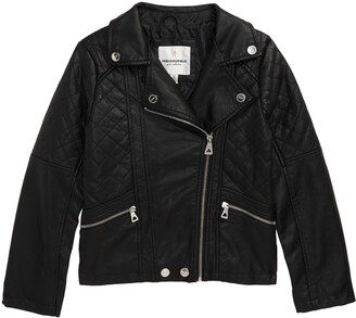Urban Republic Quilted Faux Leather Moto Jacket