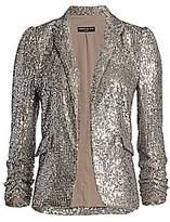 Generation Love Women's Serafina Sequin Puff-Shoulder Blazer
