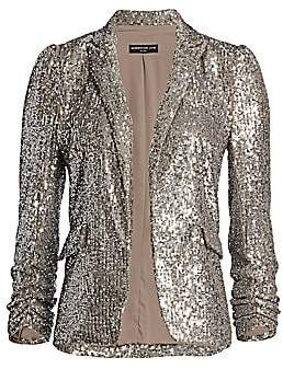 Generation Love Women's Serafina Sequin Puff-Shoulder Blazer