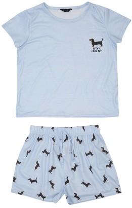 M&Co Teen sausage dog pyjamas
